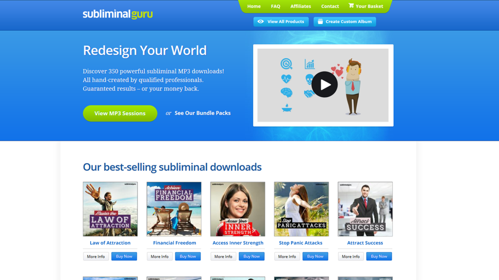 Subliminal Guru Homepage